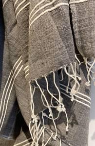 Bilde av Grått badehåndkle - Fair trade håndklær