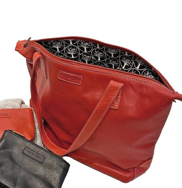 DAILY BAG Red - Rød skinnveske